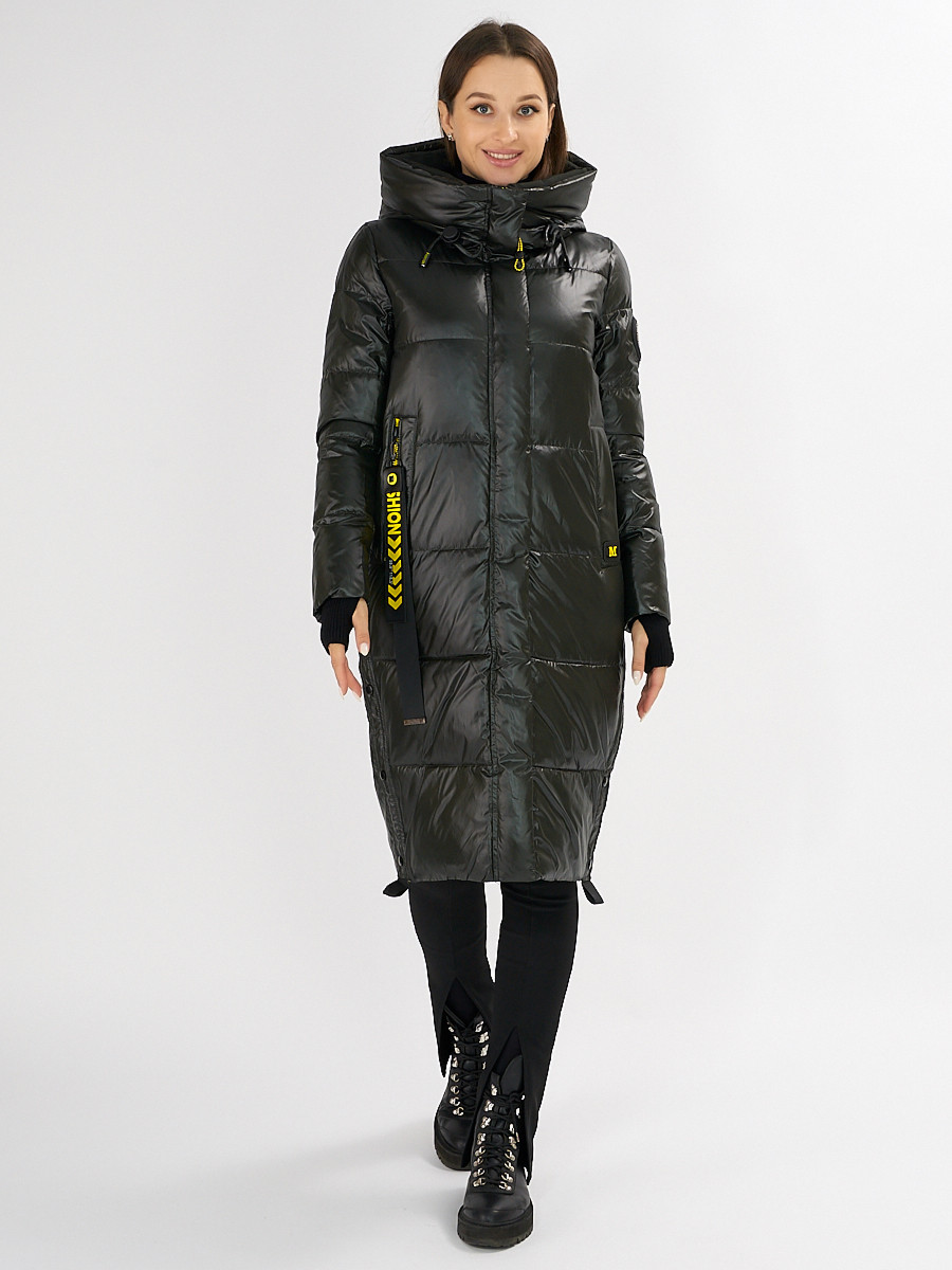 Купить оптом Куртка зимняя темно-зеленого цвета 72101TZ в Екатеринбурге