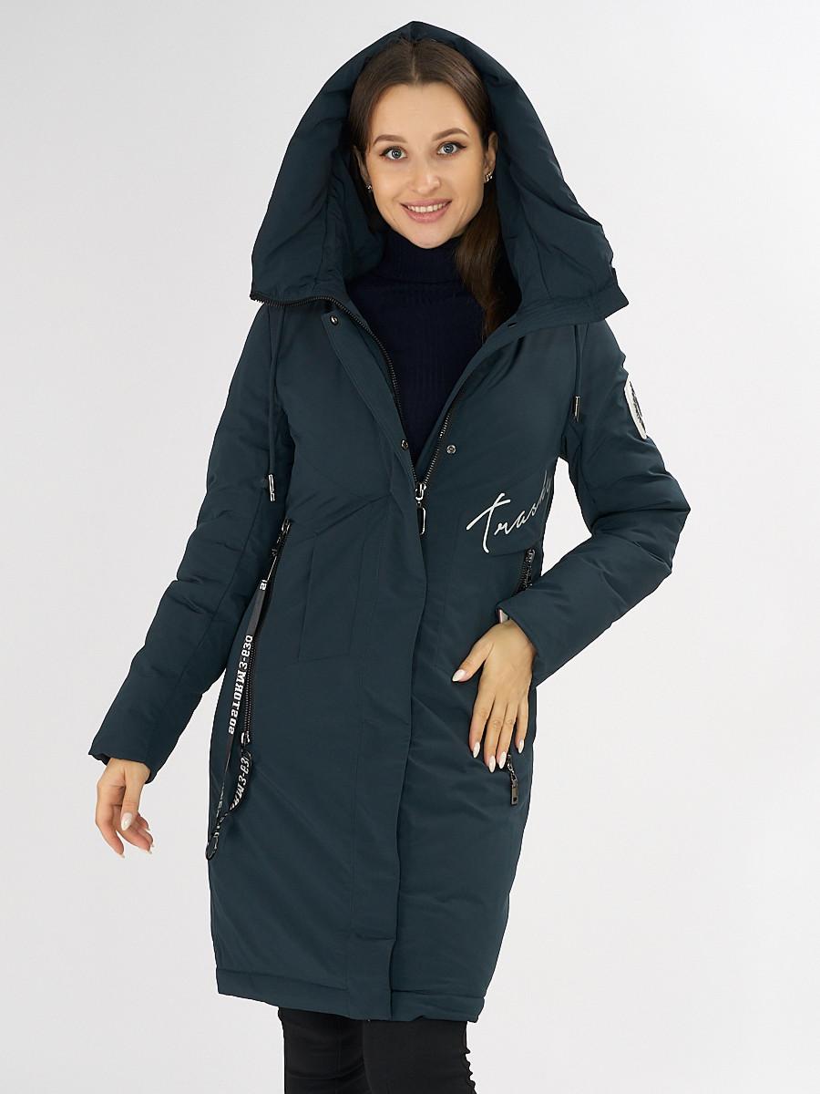 Купить оптом Куртка зимняя темно-зеленого цвета 72115TZ в Екатеринбурге