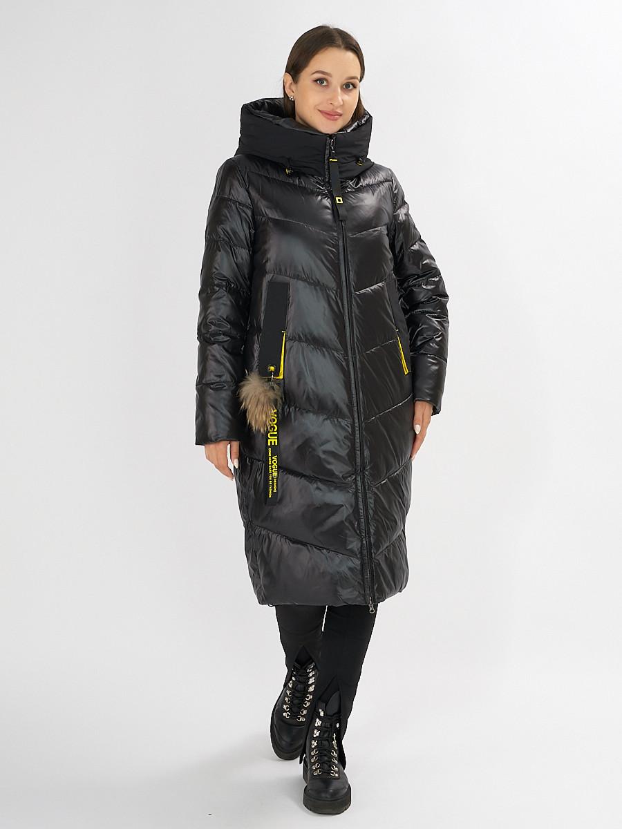 Купить оптом Куртка зимняя черного цвета 72169Ch в Екатеринбурге