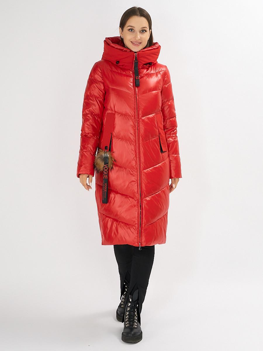 Купить оптом Куртка зимняя красного цвета 72169Kr в Екатеринбурге