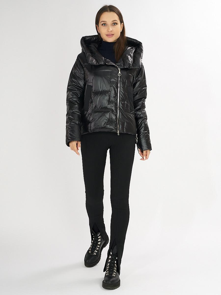 Купить оптом Куртка зимняя черного цвета 7223Ch в Екатеринбурге