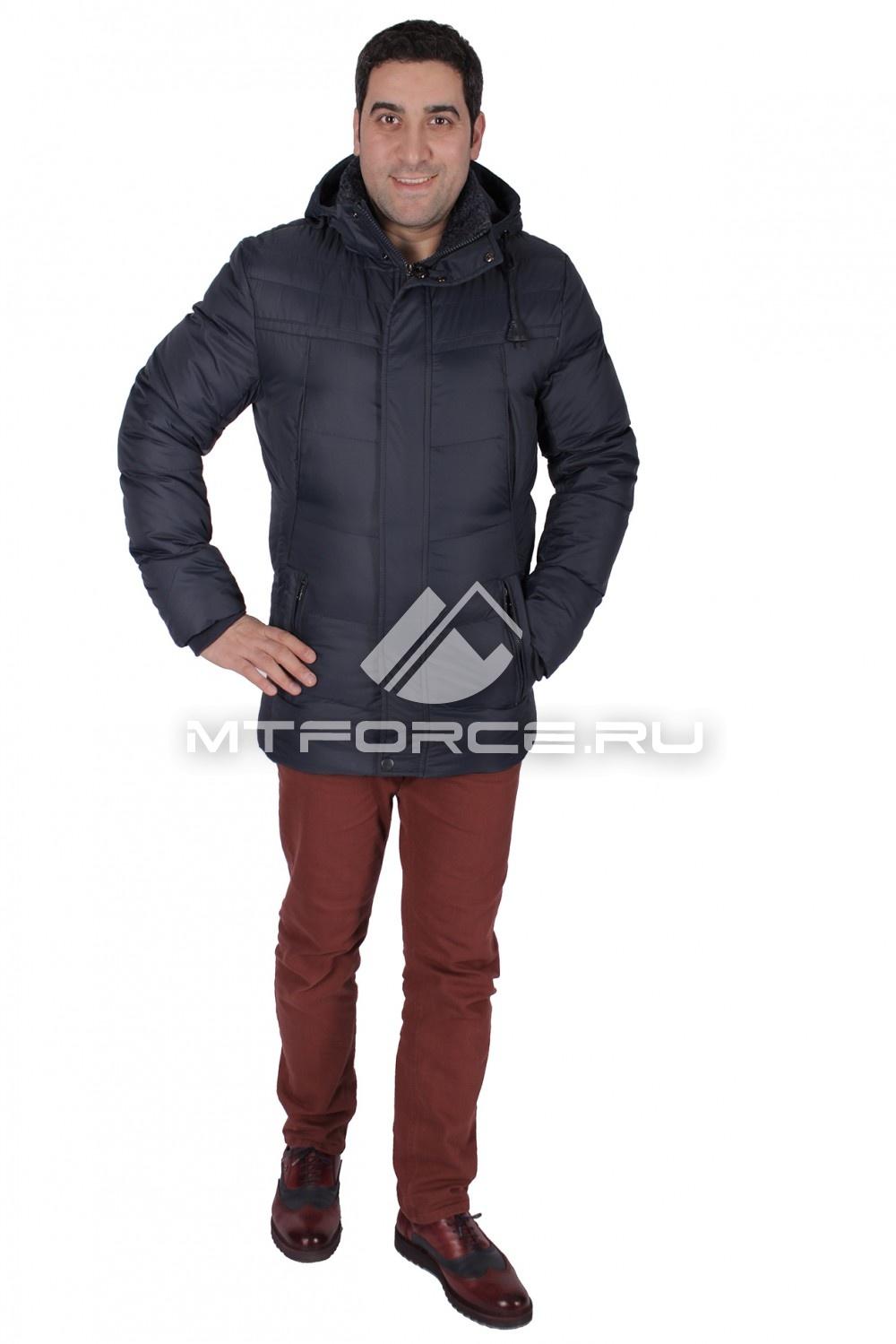 Купить                                  оптом Куртка зимняя мужская темно-синего цвета 734TS