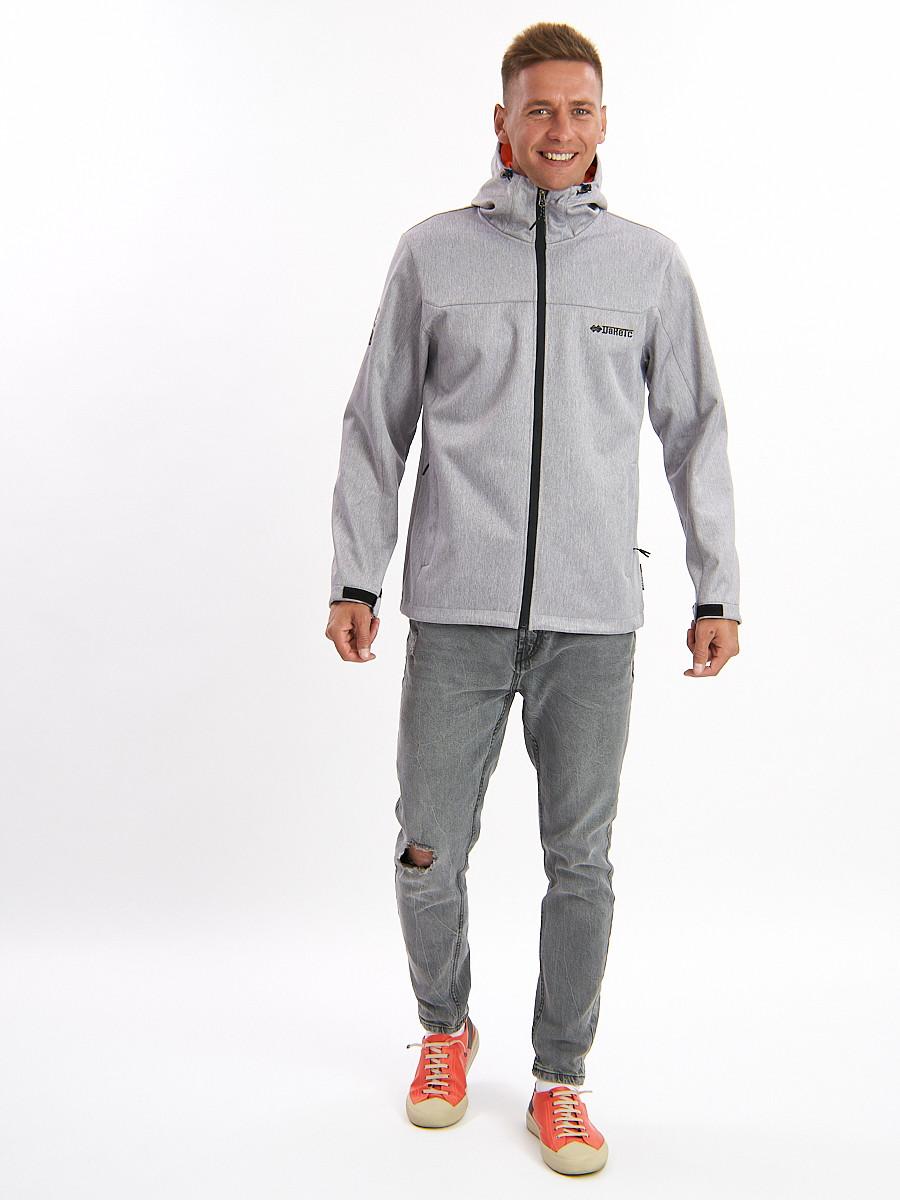 Купить оптом Ветровка мужская светло-серого цвета 759SS в Екатеринбурге