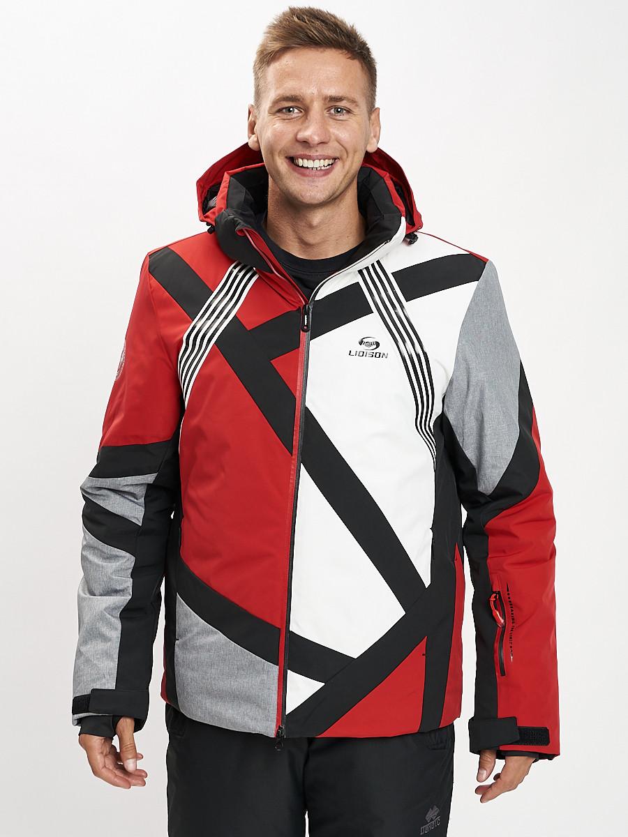 Купить оптом Горнолыжная куртка мужская красного цвета 77015Kr в Екатеринбурге