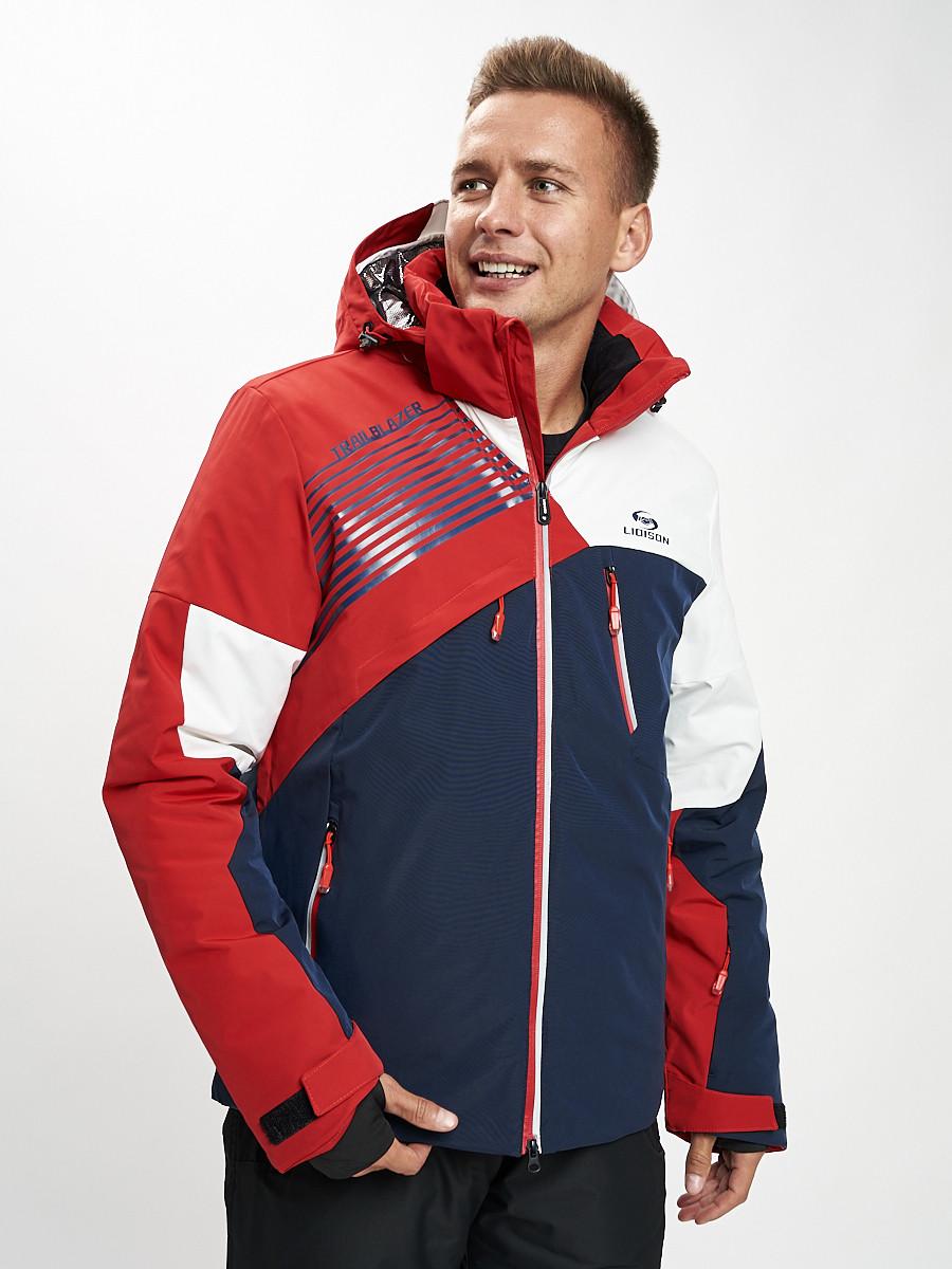 Купить оптом Горнолыжная куртка мужская красного цвета 77019Kr в Екатеринбурге