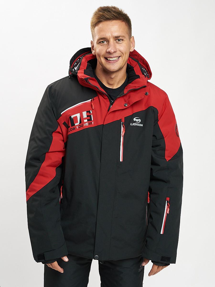 Купить оптом Горнолыжная куртка мужская большого размера красного цвета 77029Kr в Екатеринбурге