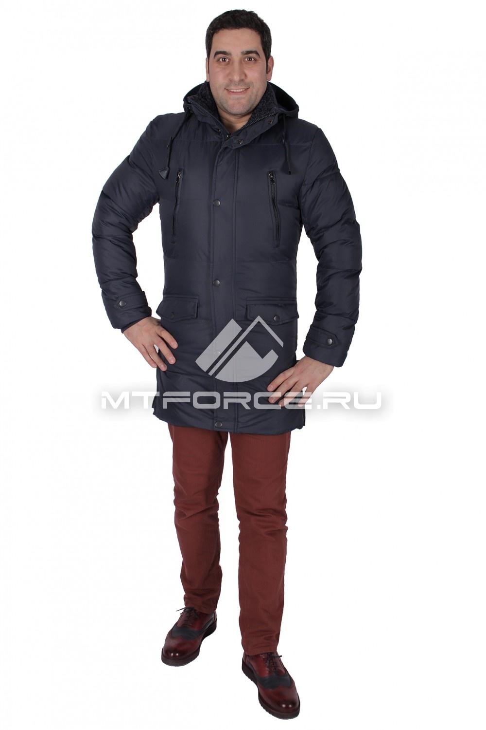 Купить                                  оптом Куртка зимняя мужская темно-синего цвета 771TS в Санкт-Петербурге