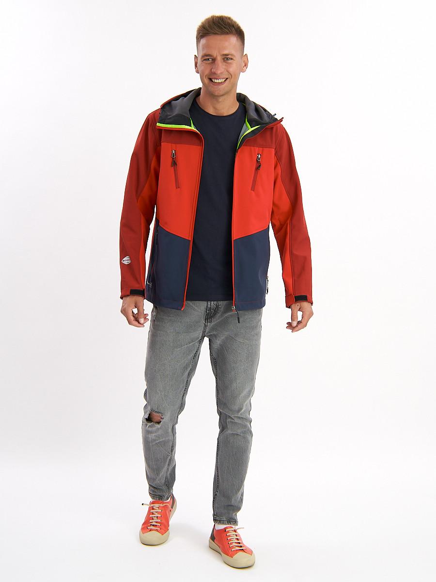 Купить оптом Ветровка мужская красного цвета 776Kr в Екатеринбурге