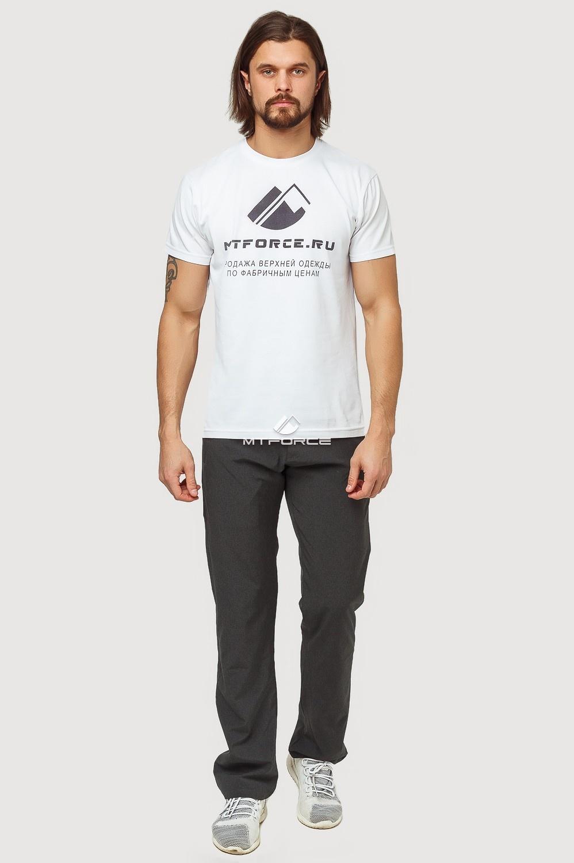Купить оптом Брюки спортивные мужские темно-серого цвета 7809TС в Челябинске
