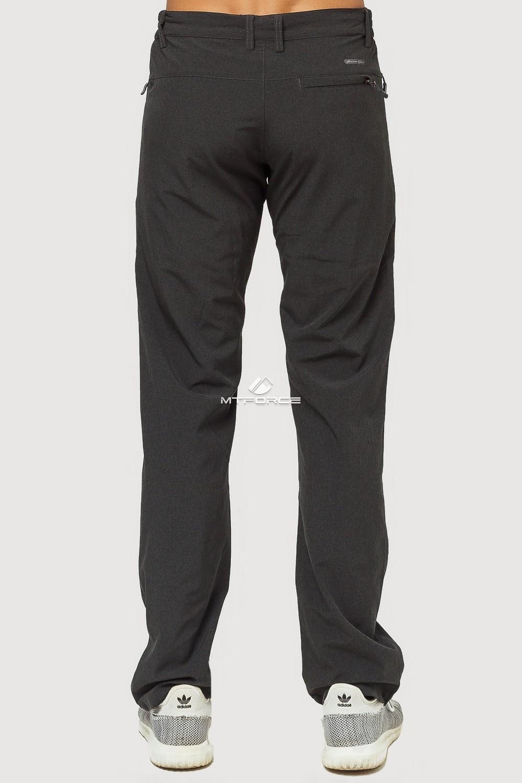 Купить оптом Брюки спортивные мужские темно-серого цвета 7809TС в Казани