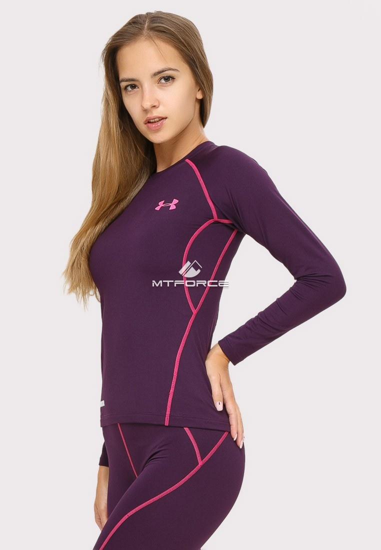 Купить оптом Термобелье женское темно-фиолетового цвета 8010TF в Омске