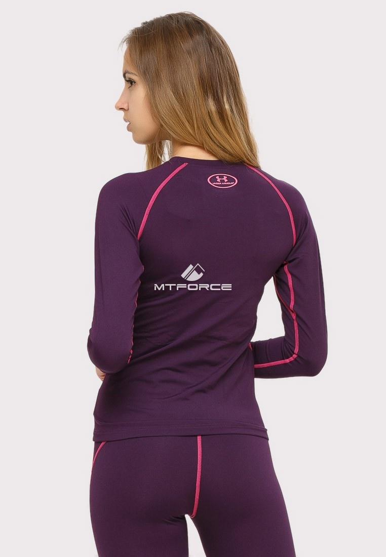 Купить оптом Термобелье женское темно-фиолетового цвета 8010TF в Казани