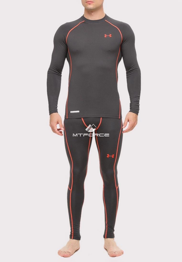 Купить оптом Термобелье мужское темно-серого цвета 8011TC в Казани