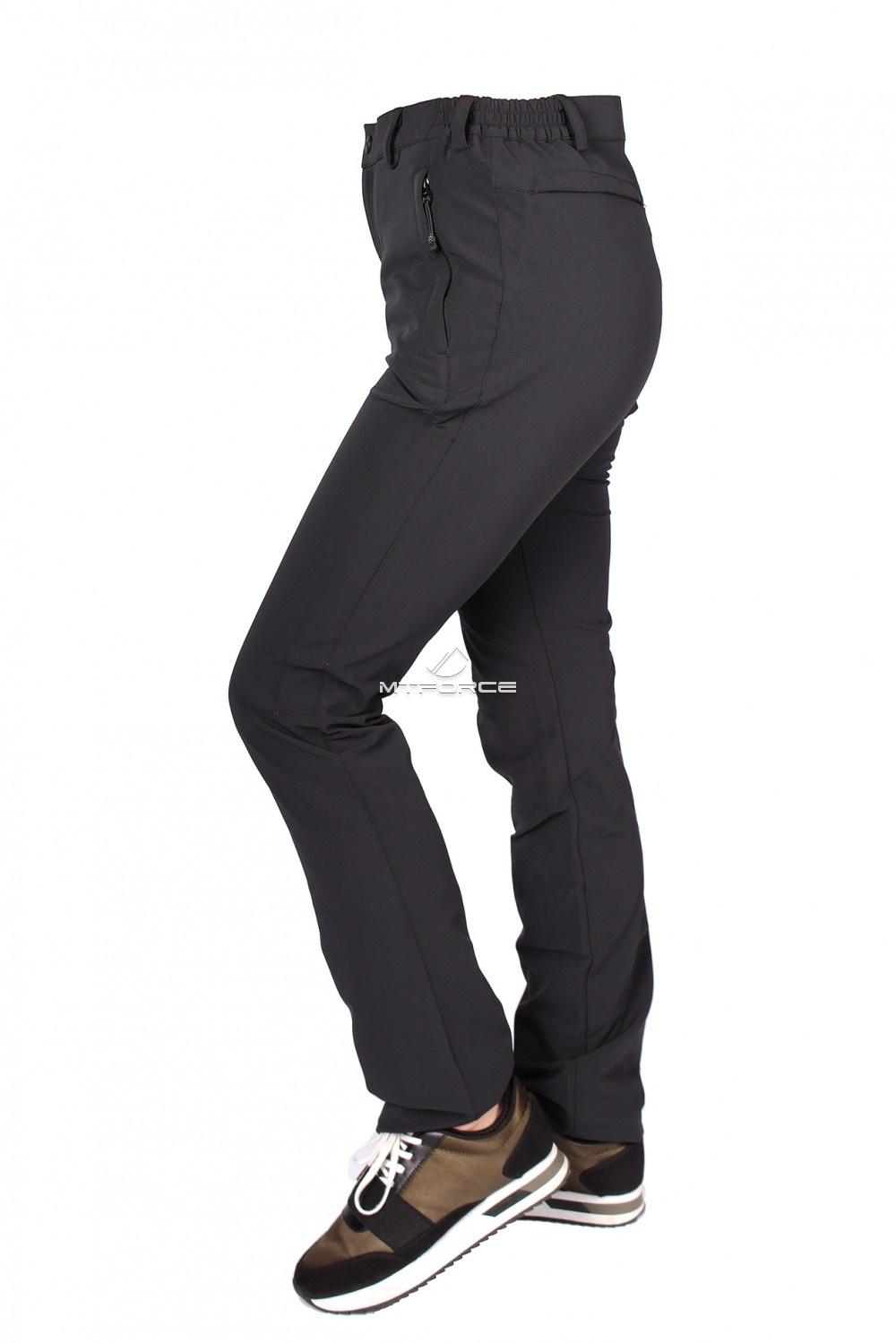 Купить оптом Брюки женские тонкие летние черного цвета 812Ch