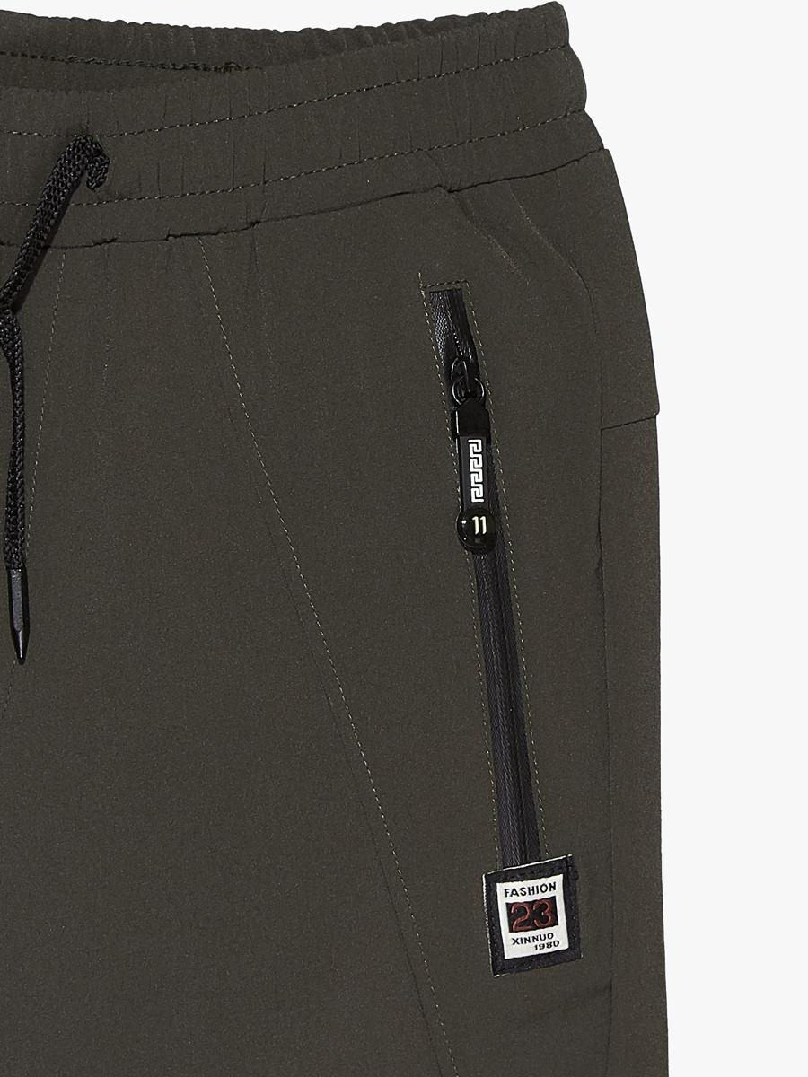 Купить оптом Брюки мужские повседневные цвета хаки 00812Kh в Перми