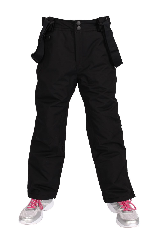 Купить оптом Брюки горнолыжные подросковые для девочки черного цвета 816Ch в Сочи