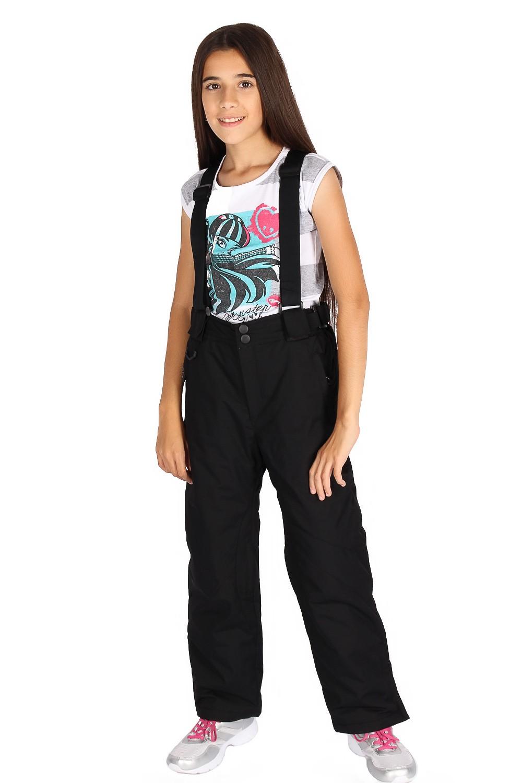 Купить                                      оптом Брюки горнолыжные подросковые для девочки черного цвета 816Ch в Самаре