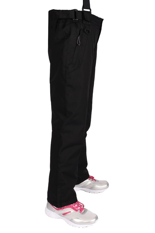Купить оптом Брюки горнолыжные подросковые для девочки черного цвета 816Ch в Уфе