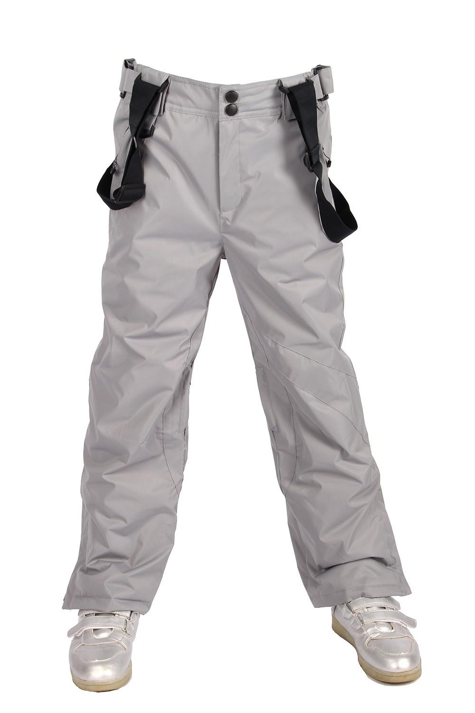 Купить оптом Брюки горнолыжные подростковые для девочки серого цвета 816Sr