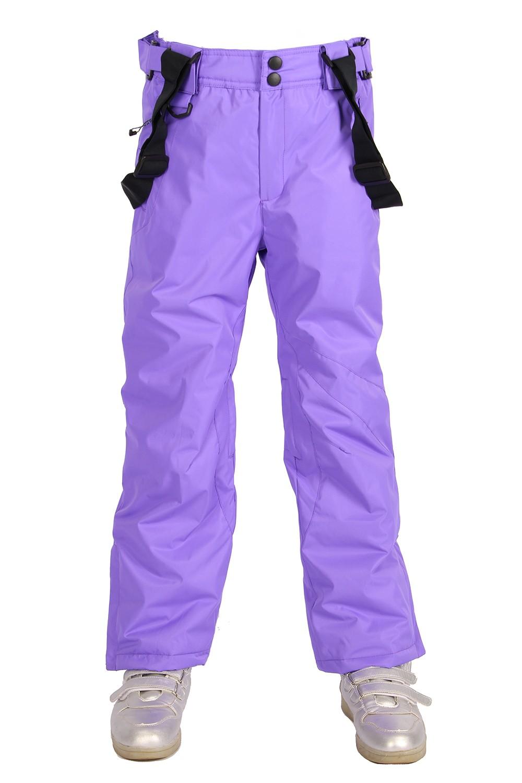 Купить оптом Брюки горнолыжные подростковые для девочки фиолетового цвета 816F в Сочи