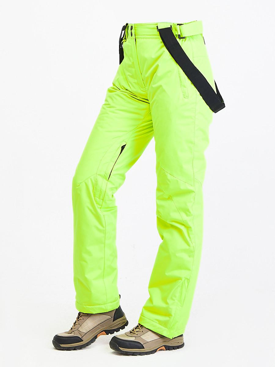 Купить оптом Брюки горнолыжные женские салатового цвета 818Sl в Волгоградке