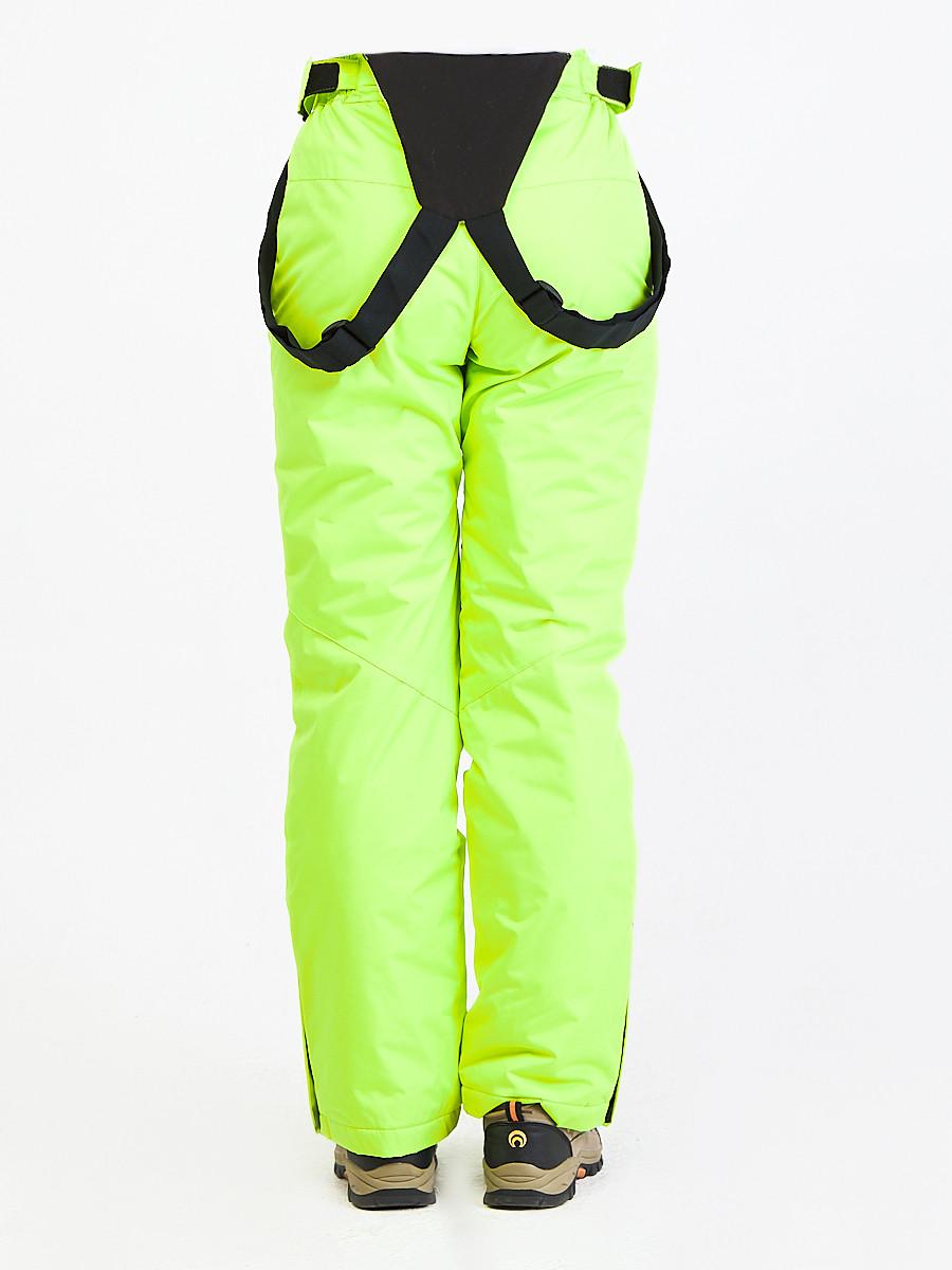Купить оптом Брюки горнолыжные женские салатового цвета 818Sl в Перми