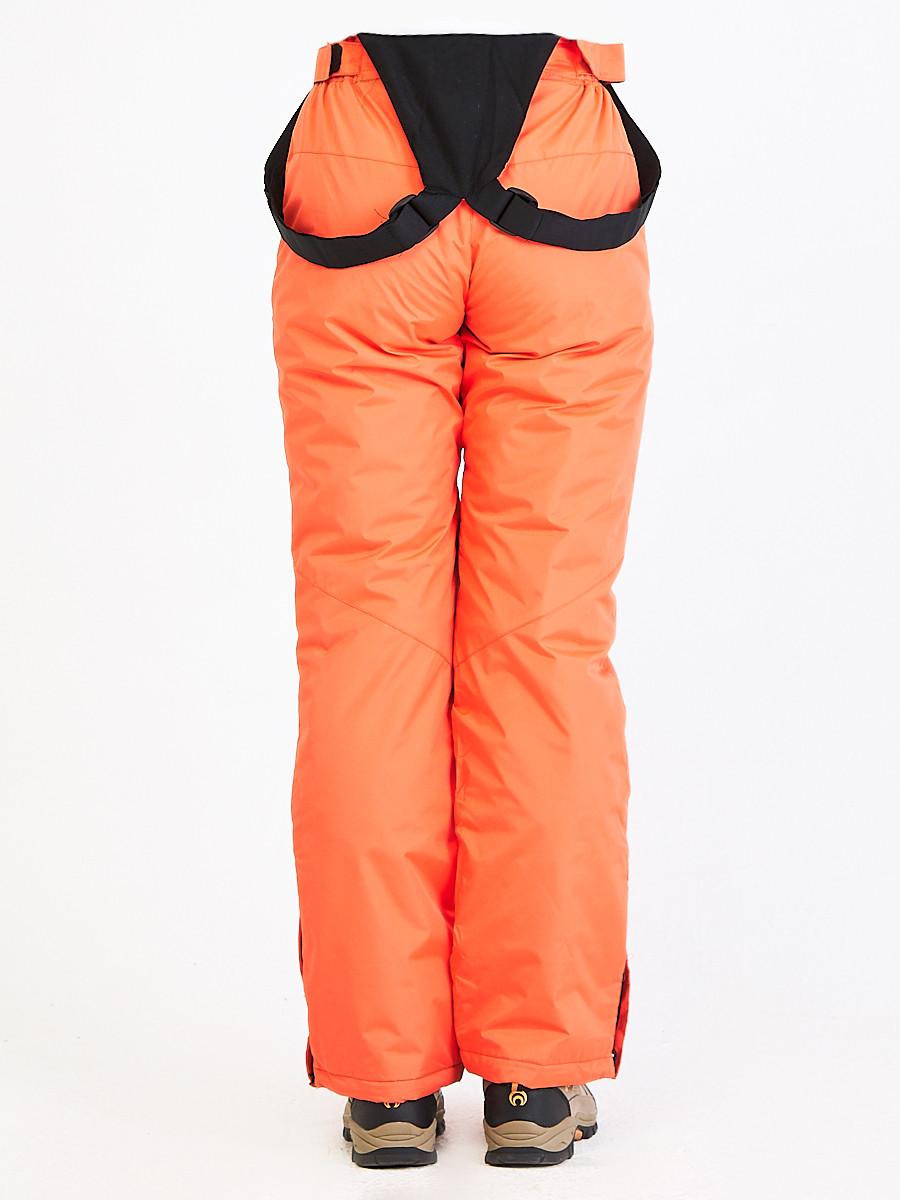 Купить оптом Брюки горнолыжные женские персикового цвета 818P в Омске