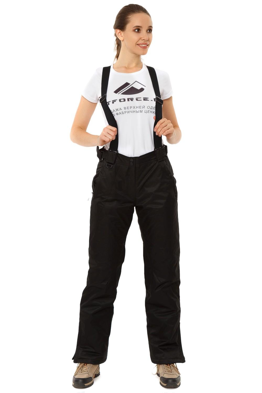 Купить                                      оптом Брюки горнолыжные женские черного цвета 818Ch в Санкт-Петербурге
