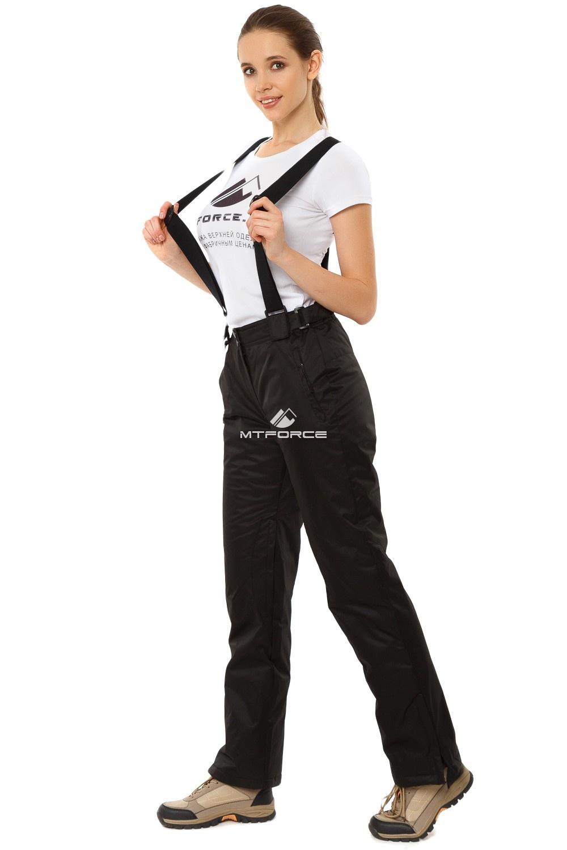 Купить оптом Брюки горнолыжные женские черного цвета 818Ch в Перми