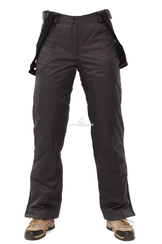 Купить оптом Брюки горнолыжные женские темно-серого цвета 818TC в Сочи