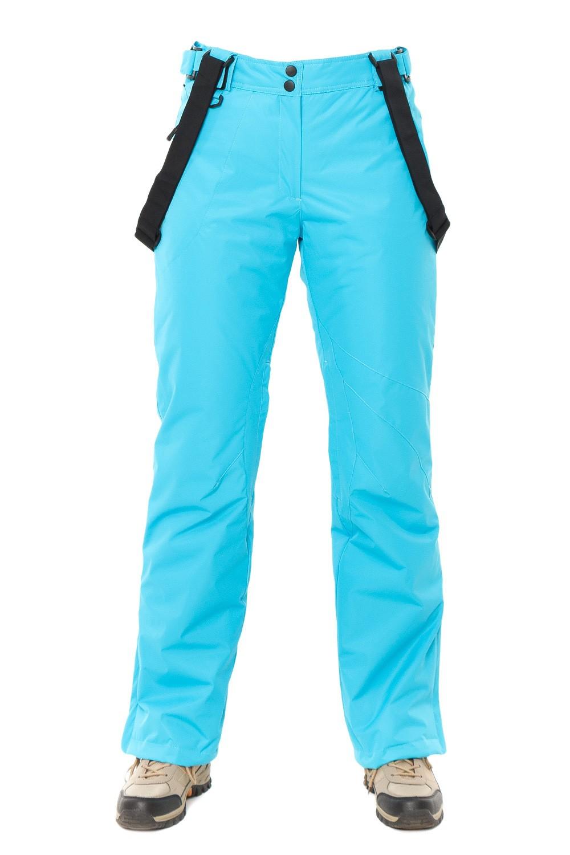 Купить оптом Брюки горнолыжные женские голубого цвета 818Gl в Омске