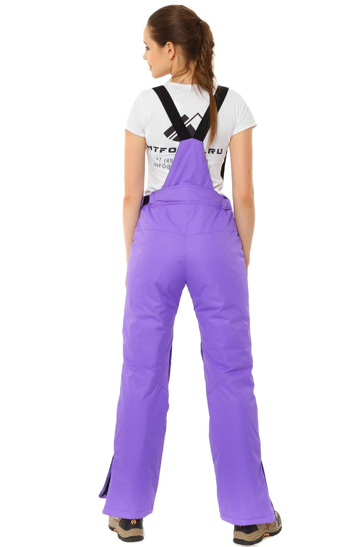 Купить оптом Брюки горнолыжные женские фиолетового цвета 818F в Самаре