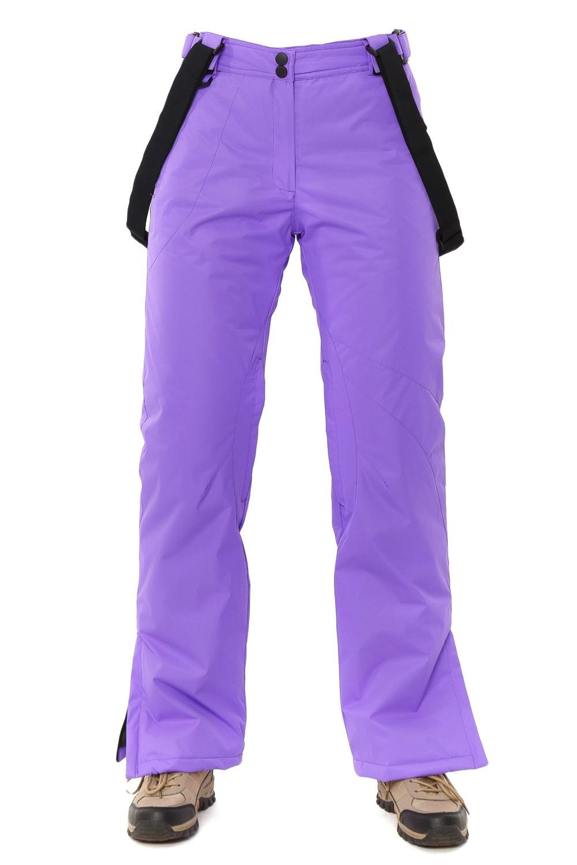 Купить оптом Брюки горнолыжные женские фиолетового цвета 818F в Челябинске