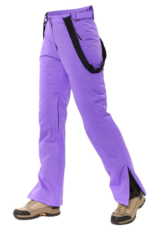 Купить оптом Брюки горнолыжные женские фиолетового цвета 818F в Екатеринбурге
