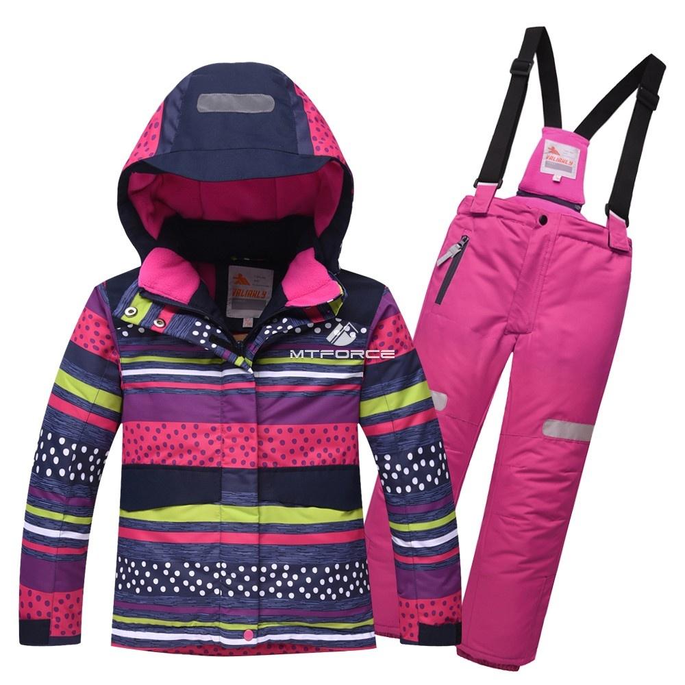 Купить оптом Горнолыжный костюм подростковый для девочки темно-синий 8816TS в Екатеринбурге