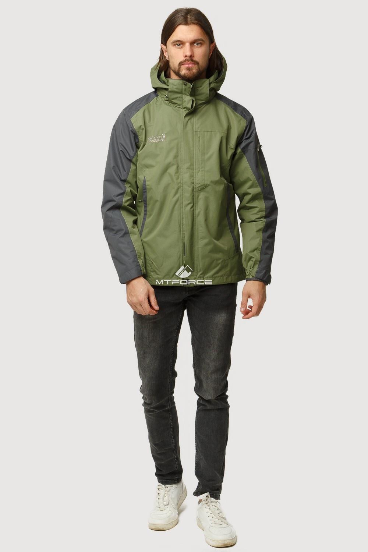Купить оптом Куртка мужская три в одном зеленого цвета 86241Z