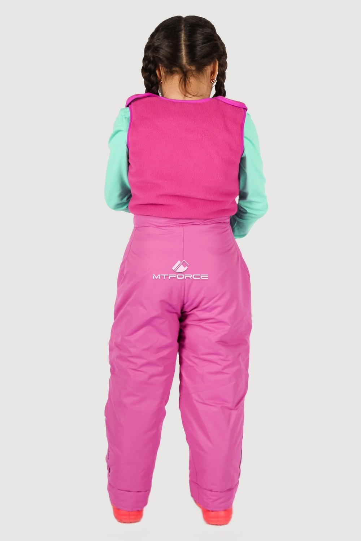 Купить оптом Брюки горнолыжные подростковые для девочки розового цвета 8736R в  Красноярске