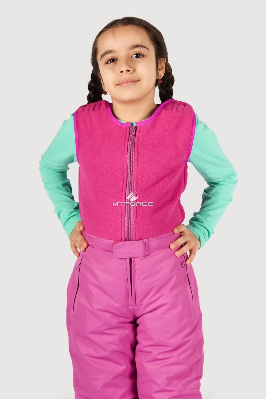 Купить оптом Брюки горнолыжные подростковые для девочки розового цвета 8736R в Санкт-Петербурге