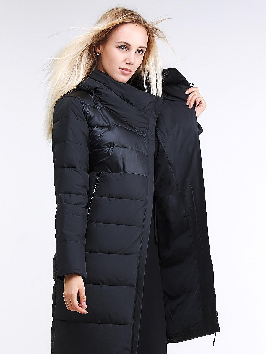 Купить оптом Куртка зимняя женская молодежная стеганная черного цвета 870_01Ch в Казани