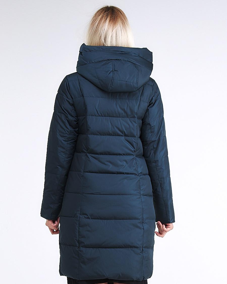 Купить оптом Куртка зимняя женская молодежная стеганная темно-зеленого цвета 870_03TZ