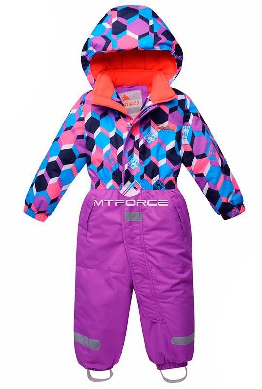 Купить оптом Комбинезон горнолыжный детский фиолетового цвета 8702F в Санкт-Петербурге