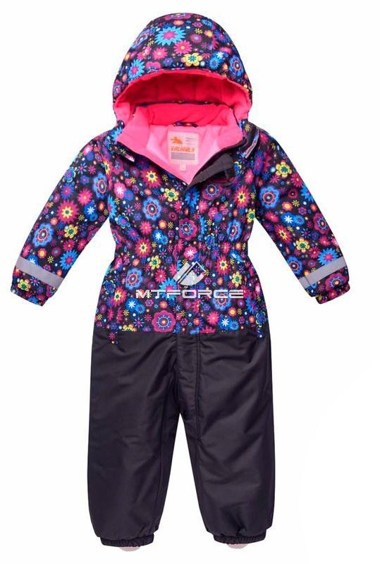 Купить оптом Комбинезон горнолыжный детский черного цвета 8704Ch