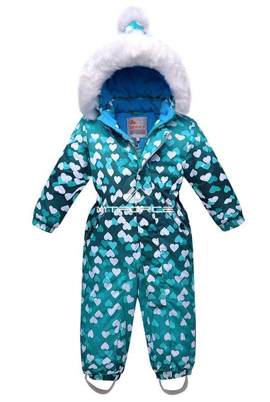 Купить оптом Комбинезон горнолыжный детский бирюзового цвета 8706Br в Новосибирске
