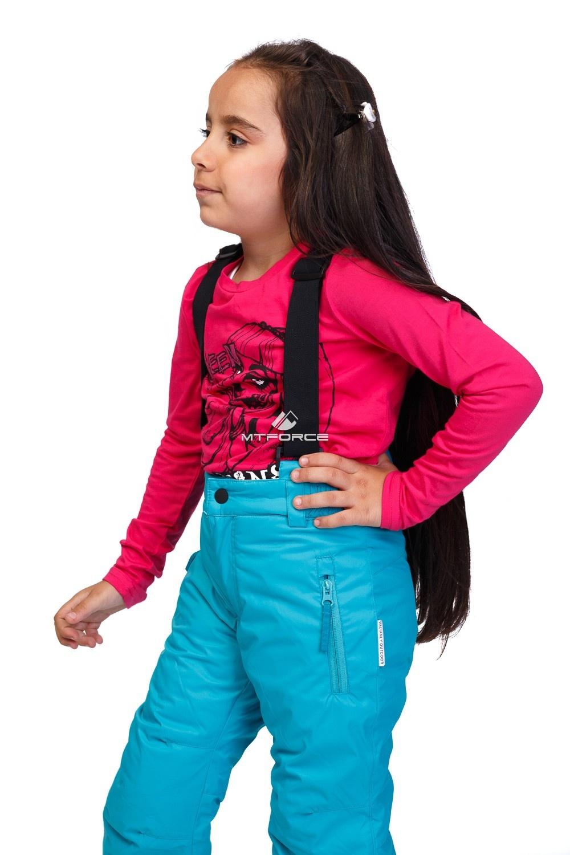 Купить оптом Костюм горнолыжный для девочки бирюзового цвета 8719Br в Нижнем Новгороде