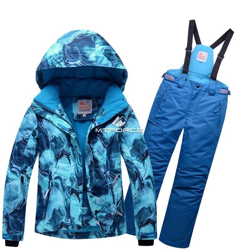 Купить  оптом Костюм горнолыжный для девочки синего цвета 8729S