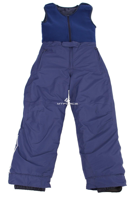Купить оптом Брюки горнолыжные подростковые для девочки темно-синего цвета 8736TS в Новосибирске