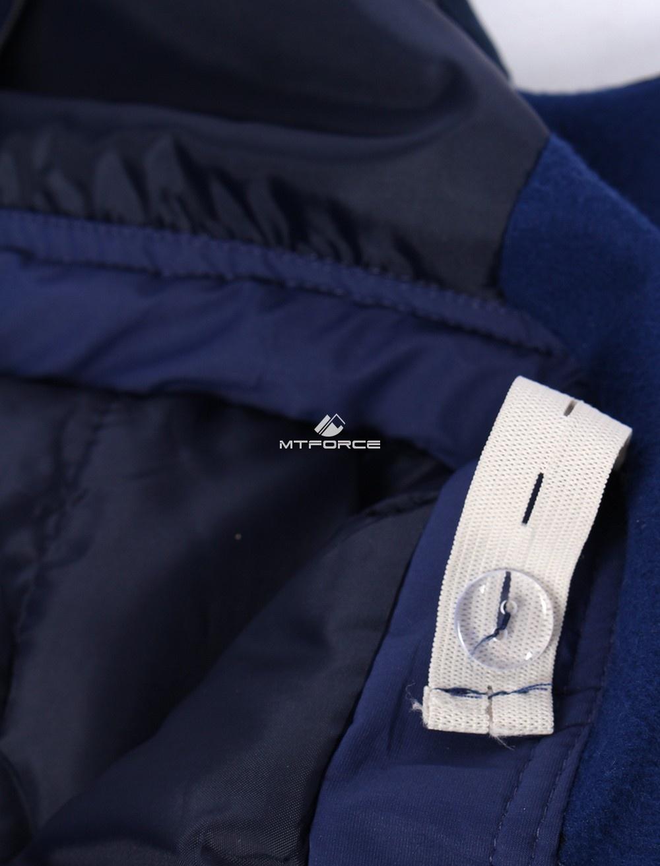 Купить оптом Брюки горнолыжные подростковые для девочки темно-синего цвета 8736TS в Уфе
