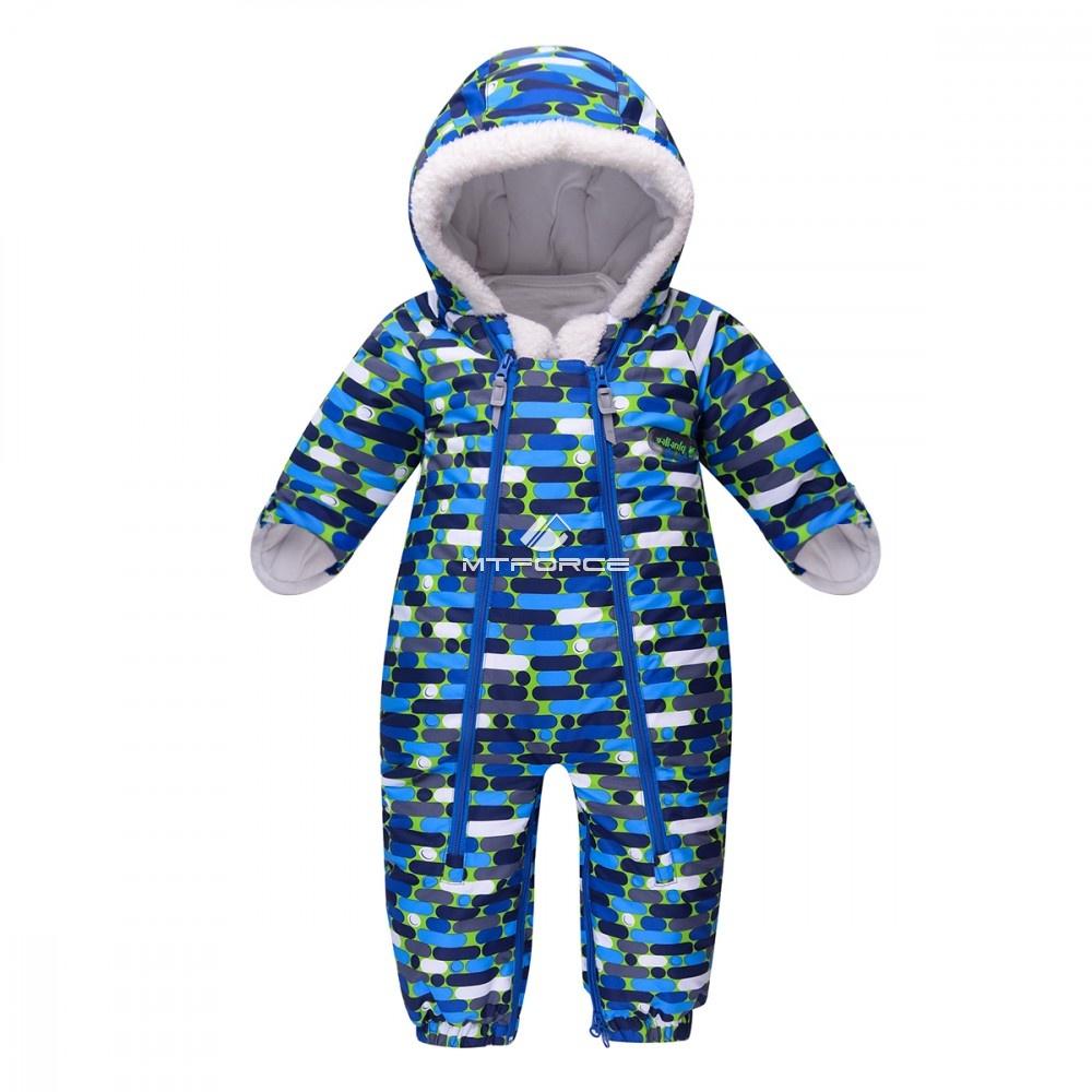 Купить оптом Комбинезон детский синий 8801S в Омске