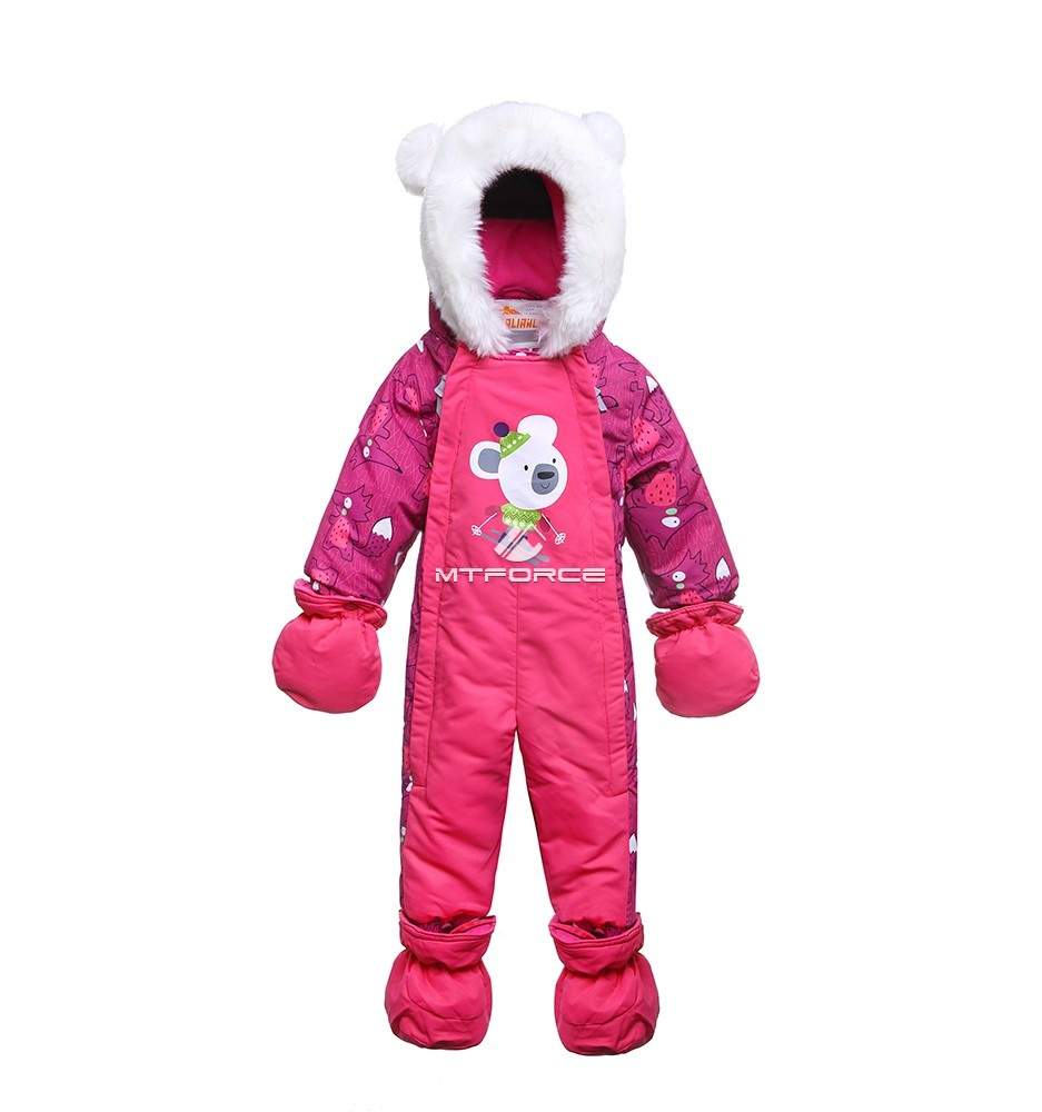 Купить оптом Комбинезон детский розовый 8802R в Екатеринбурге