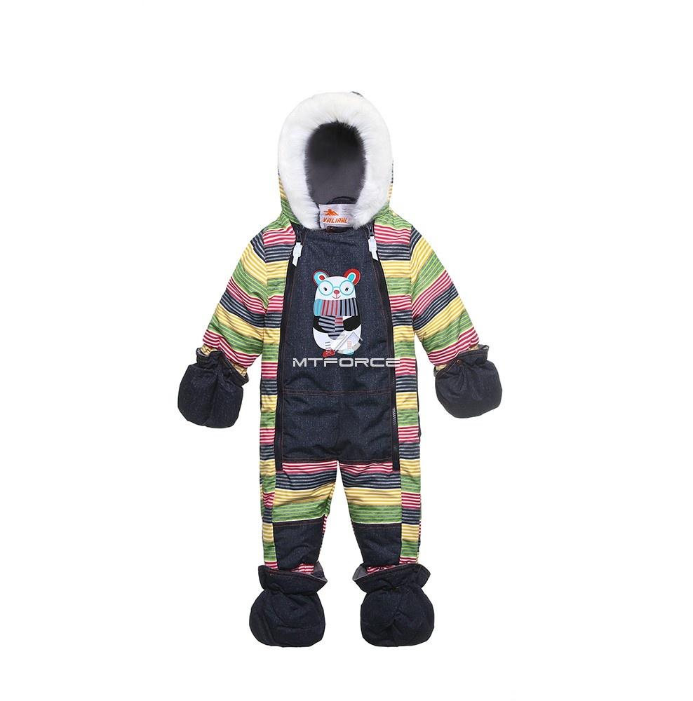 Купить оптом Комбинезон детский темно-серый 8803TC в Новосибирске